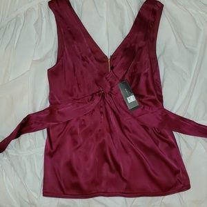 Silk blouses - deep pink